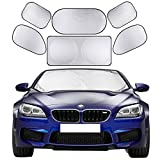Cosyzone Windshield Sunshade 6 Pieces Car Sun Shade Side Rear Window Shades by UV Rays Sun Visor Protector, Keeps Vehicle Cooler