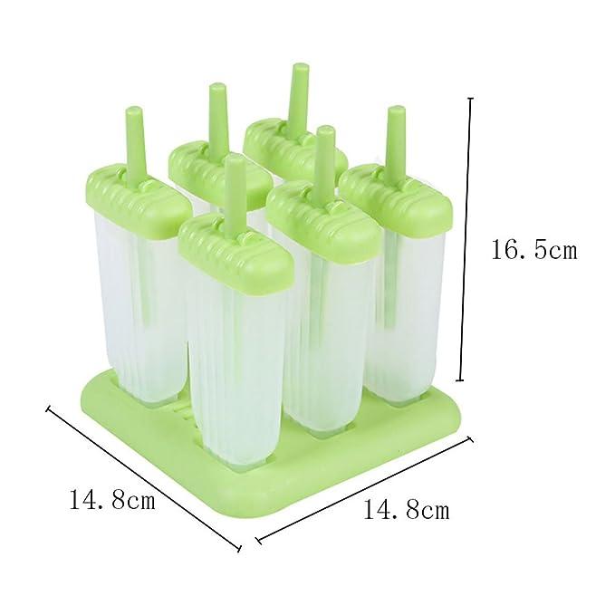 Compra Leisial 2pcs Moldes de Paleta Plástico Caja de Hielo Molde del Helado DIY Palo de Molde de Hielo Popsicle Moldes para Yogur Zumo de Fruta Hielo en ...