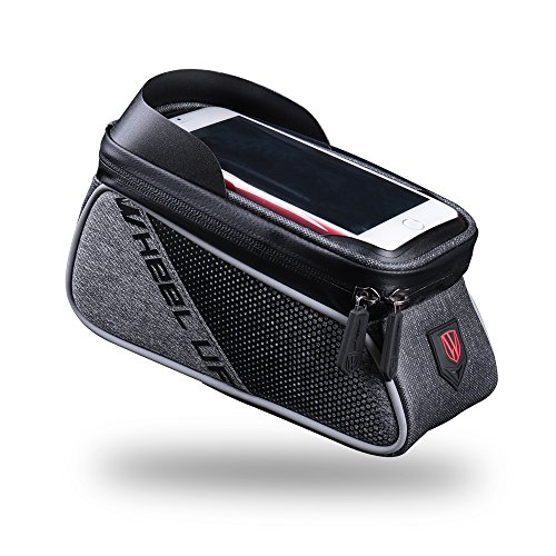 Xplanet Bike Frame Bag, Cycling Front Tube bag Waterproof Touch Screen Phone Case Bicycle Bag for iPhone 8 7 Plus 6s plus/Samsung Galaxy s7 s6 note 7 Cellphone Below 6.0 Inch With Sun Visor