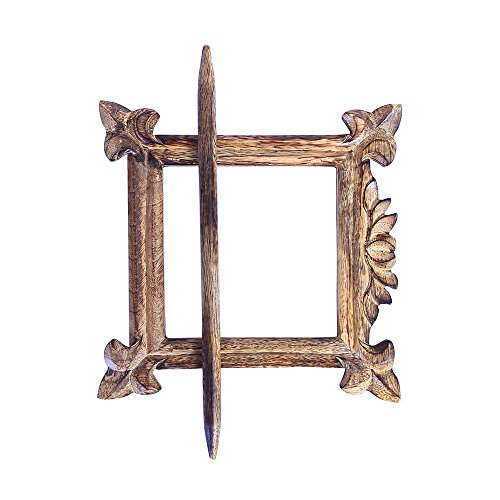 """COLLECTIBLES INDIA Wooden Drape Clips Decorative Window Curtain Tie Back Clip Curtain Holdback - 7"""""""