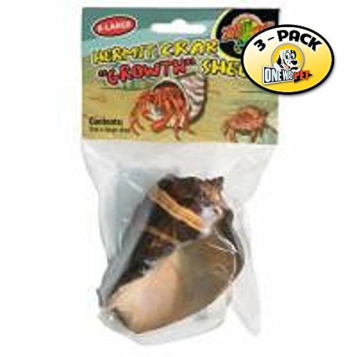 510TyoFVMoL - Zoo Med Hermit Crab Growth Shell, X-Large (Pack of 3)