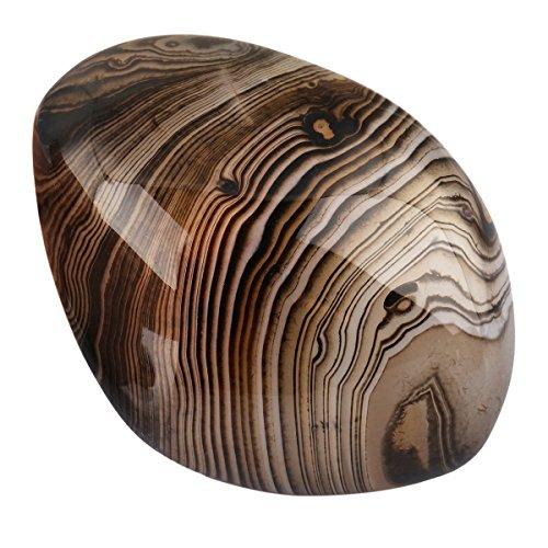 Nupuyai Natural Irregular Polished Palm Stone Reiki Healing Tumbled Worry Stones Pocket Crystal Quartz Stones, Banded Agate