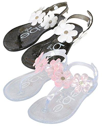 52e47ec58660 bebe Girls 2 Pack Flower Thong Jelly Sandals (Toddler Little Kid)