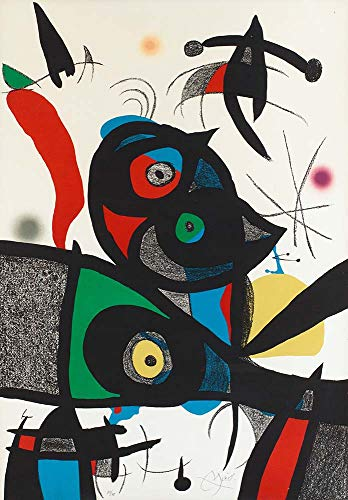 - Handpainted Reproduction Joan Miro 35X50 cm (Approx. 14X20 inch) - Untitled Ur Oda A Joan Miró Abstract Paintings Canvas Wall Art Poster Rolled