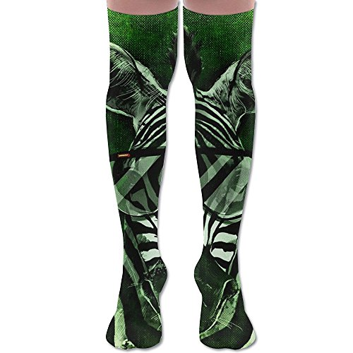 Cool Zebra With Sunglasses Adult Unisex Knee High Stockings Sports Athletic - Wacky Sunglasses Uk