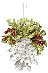 Christmas Kissing Mistletoe Pinecone Ornament