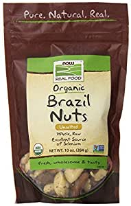 Now Foods Organic Brazil Nuts, 10 Ounce (Pack of 2)