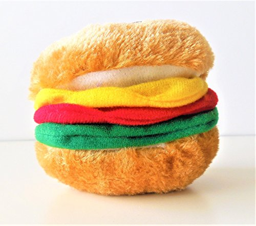Hamburger Soft Bite Dog Toy - Small (Booda Toy Dog)