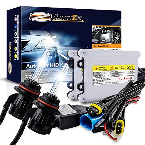Autolizer 55W Xenon HID Lights [9007 9004 HB5-8000K Iceberg Blue] Bi-Xenon with Relay