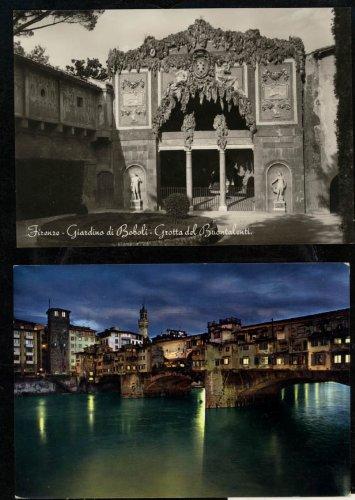 (Buontalenti's Grotto: Grotta del Buontalent Boboli Gardens. Firenze (Italy) (2 Postcards))