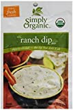 Simply Organic Dips Ranch At least 95% Organic (12x1.5oz) ( Value Bulk Multi-pack)