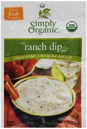 Simply Organic Dips Ranch At least 95% Organic (12x1.5oz) ( Value Bulk Multi-pack)