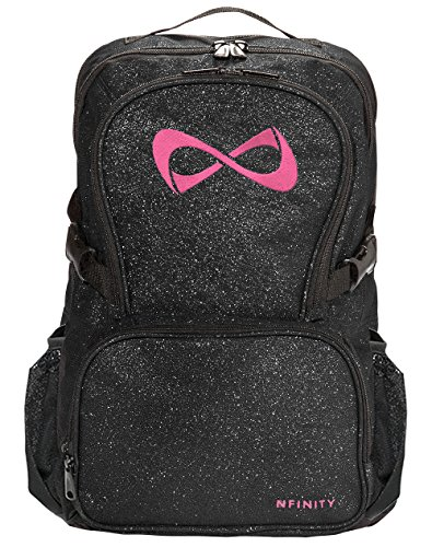 Sparkle Backpack by Nfinity   Girls Glitter Bookbag   Perfect Bag for Travel, School, Gym, Cheer Practices   15