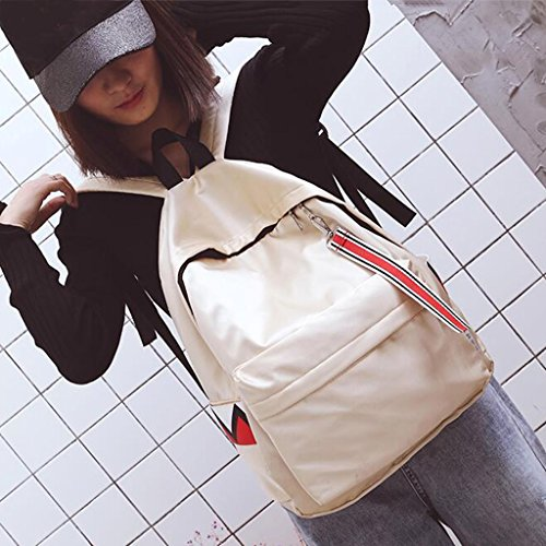 41 31 Oxford Cm Wang tamaño Moda 11 color Bolsos Mochila De Blanco Blanco qwIz8Yw