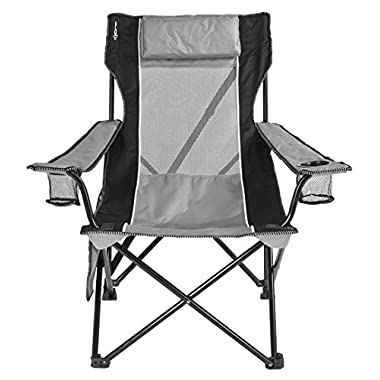 Kijaro Sling Folding Chair (Cupertino Classic Gray)