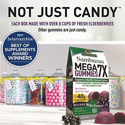 Nature's Answer Sambucus Mega Black Elderberry Gummies, 7X More Elderberry Concentration, 60 Count (2 Pack) by Nature's Answer (Image #6)