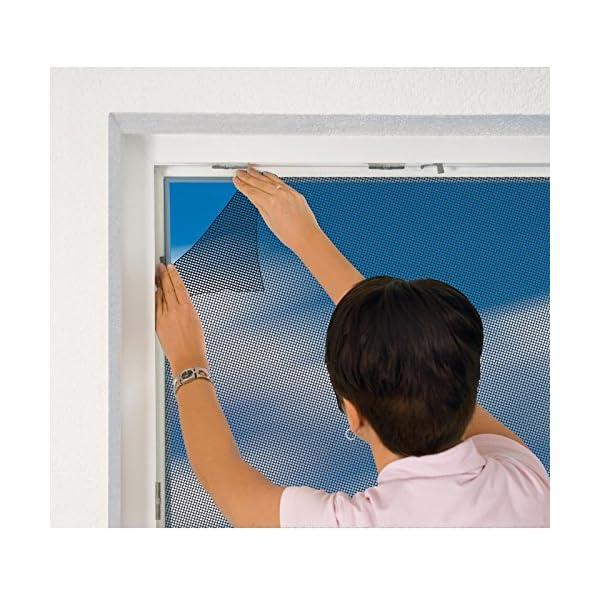 510U0%2BvfX3L easy life Fliegengitter für Dachfenster 140 x 170 cm in anthrazit Eingriff mit Reißverschluss - auch in weiß wählbar