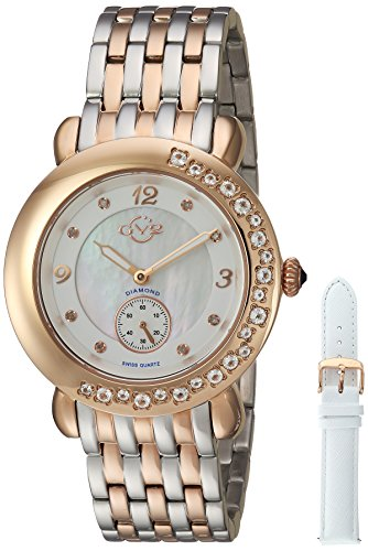 GV2-by-Gevril-Womens-9893-Marsala-Gemstone-Analog-Display-Swiss-Quartz-Two-Tone-Watch