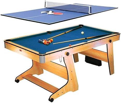 Riley Mesa de billar y ping pong Riley FP-6TT (2 en 1, sistema plegable con ruedas, accesorios incluidos): Amazon.es: Deportes y aire libre