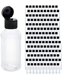 U.S. Art Supply 4 ounce Squeeze PET Plastic Bottles with Flip Cap - BPA-free, food safe, medical grade plastic, acrylic pouring paint (Pack of 144)