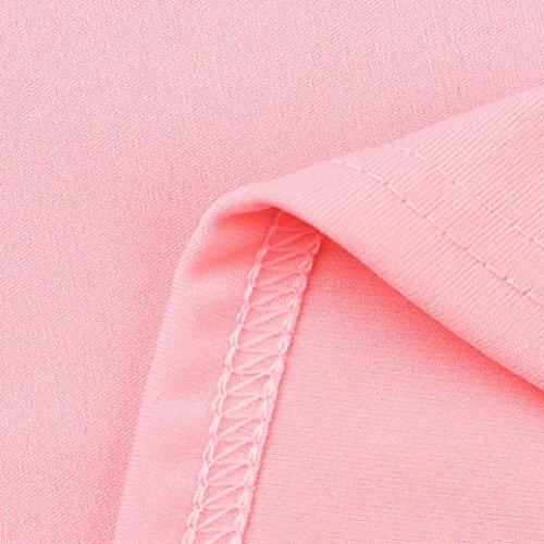 T Corte Shirt Elegante Cerniera Homebaby® Top Magliette Maglietta Shirt Vintage Particolari T Corta Manica Estiva Tumblr Donna Rosa Donna Tumblr Ragazza Donna BFwFfzUWqZ