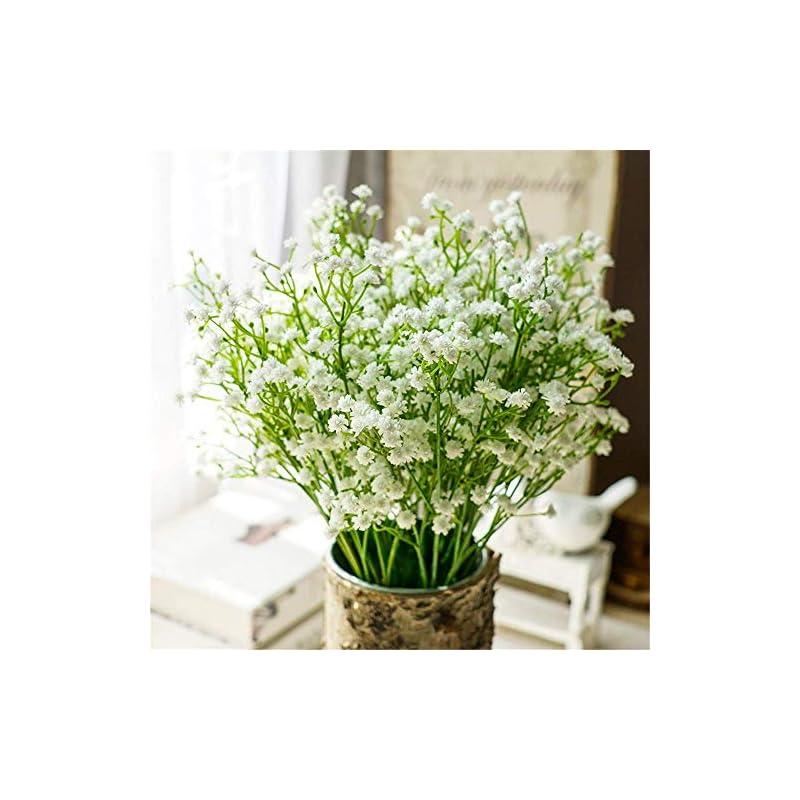 silk flower arrangements nerseki 10pc artificial baby breath gypsophila flower wedding home decor gift