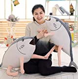 Malltop Plush Toy Pillows, Stuffed Salted Fish Shape Soft Cartoon Game Doll With Zipper