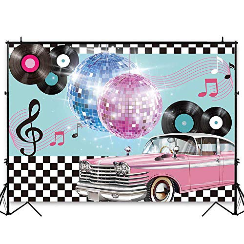 Sock Hop Table Decorations - Funnytree 7x5ft 50s Retro Rock N