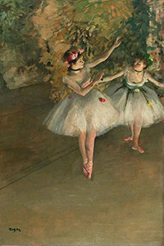 Edgar Degas Two Dancers On The Stage Art Print Poster 12x18 inch