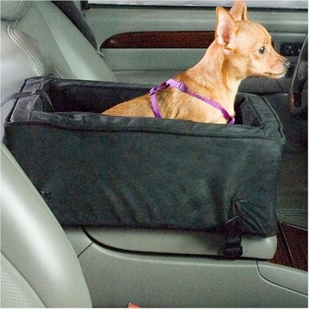 Snoozer Luxury Console Pet Car Seat, Small Luxury, Anthracite/Black