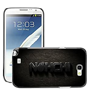Hot Style Cell Phone PC Hard Case Cover // M00044839 scratched artistic metal typography // Samsung Galaxy Note 2 II N7100