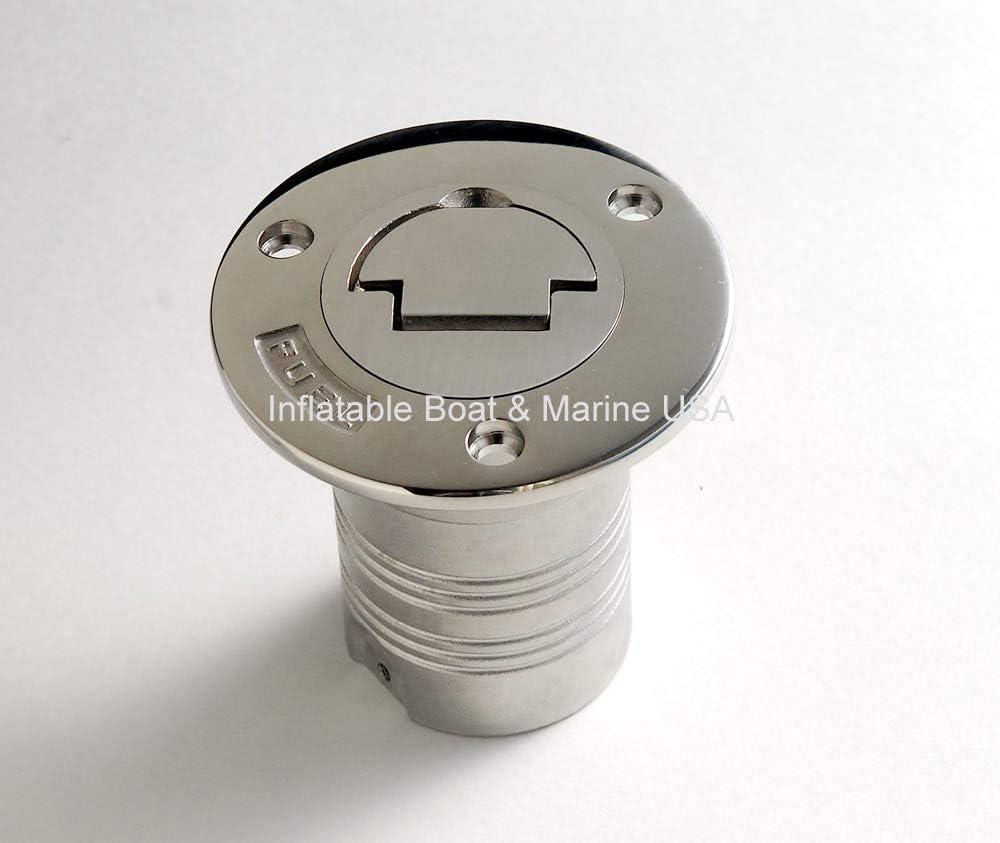 "Boat Deck Tank Fill Filler Keyless Cap 2/"" Fuel Marine 316 Stainless Steel"