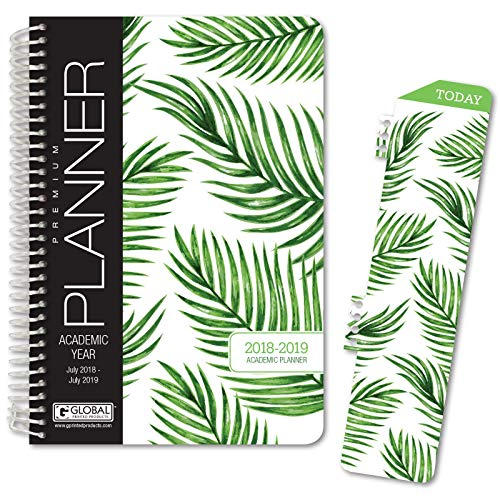 Bent Palm Tree - HARDCOVER Calendar Year 2019 Planner: (November 2018 Through December 2019) 5.5