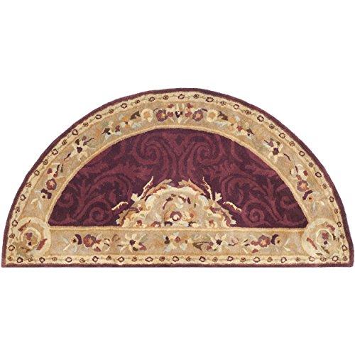 - Safavieh Empire Collection EM414A Handmade Traditional European Dark Red and Dark Beige Premium Wool Area Rug (2'6