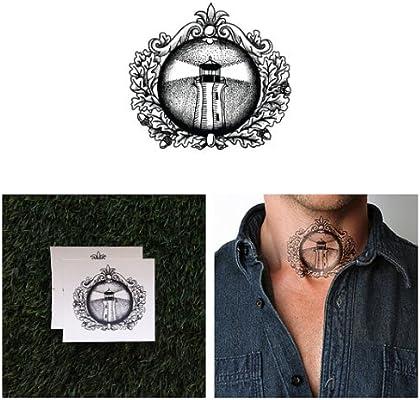 Tatuaje Temporal Tattify - Faro Tradicional - Luces Altas (Juego ...