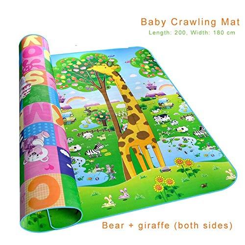 - XuBa Baby Game Pad Crawling Mat Double Surface Baby Carpet Rug Animal Car+Dinosaur Developing Mat for Children Play Mat 2001800.5cm style2