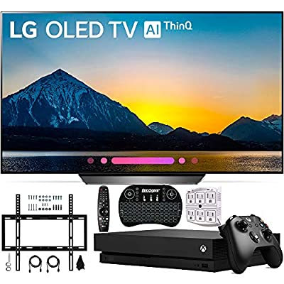 """LG OLED OLED65B8PUA 65"""" B8 4K HDR AI Smart TV with Xbox One X 1TB + Wall Mount and More"""