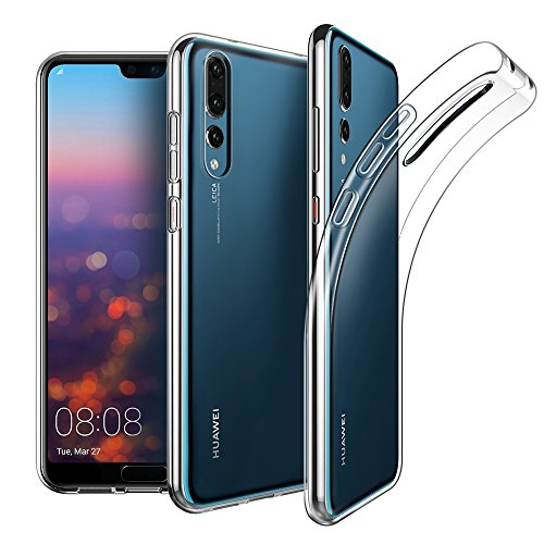 EasyAcc Case for Huawei P20 Pro, Soft TPU Crystal Clear Slim Anti Slip Case Transparent Back Protector Cover Compatible with Huawei P20 Pro 6.1