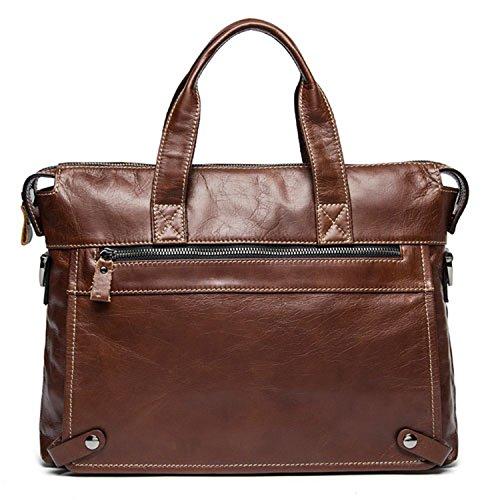 b2bea2c84c Genuine Leather Business Men bags Laptop Tote Briefcases Crossbody bags  Shoulder Handbag Men s Messenger Bag