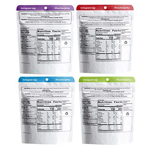 Function Jerky - Plant Based Vegan Jerky - Non-GMO - Plant Protein - 4 Pack 2