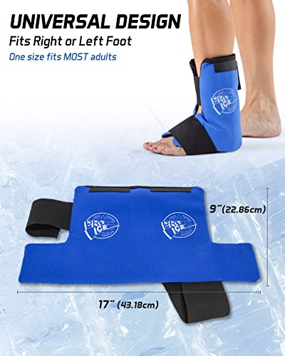 Ankle/Foot Ice Therapy Wrap – Perfect for Sprained Ankles, Plantar Fasciitis, Achilles tendonitis, and Swelling Feet - Ice Packs Included by PRO ICE COLD THERAPY PRODUCTS (Image #3)