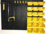 "Pegboard Panels Wall Storage Kit in 48""- 72"" Widths Panel Set Garage Organizer"
