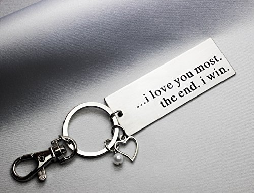 Ms.Clover I Love You Most The End I Win Keychain, Anniversary Gift for Husband Couples Best Friends, Grandparent Mom Child Gift, Wedding Gift by Ms.Clover (Image #3)
