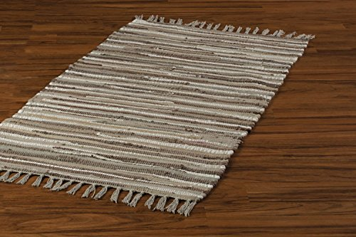 Teppich Fleckerlteppich beige braun 50 cm x 100 cm Rieke 4