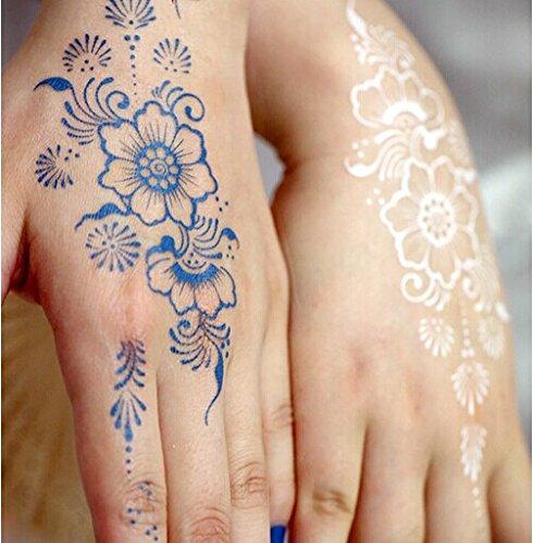 Blue Henna Tattoo: Gc India Henna Style Hand Leg Neck Arm Temporary Tattoo