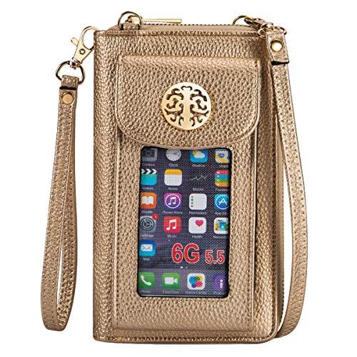 Heaye Crossbody Cell Phone Purse for Women Wristlet Wallet with Phone Holder Handbag RFID