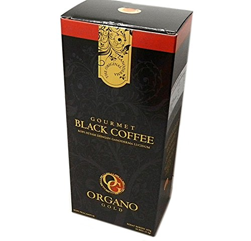 Organo Gold Gourmet Black Ganoderma Coffee, 30 Sachets (3...