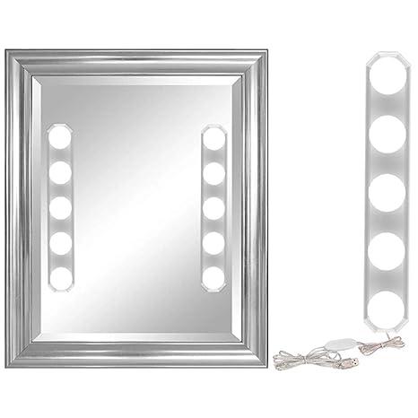 Syfinee Led Mirror Light Studio Suction Cup Usb Makeup