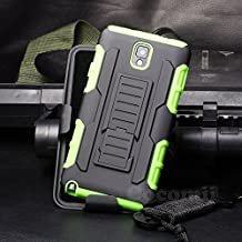 Galaxy Note 3 Case, Cocomii Robot Armor NEW [Heavy Duty] Premium Belt Clip Holster Kickstand Shockproof Hard Bumper Shell [Military Defender] Full Body Dual Layer Rugged Cover Samsung N9000 N9005 (Green)