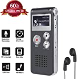 Upgrade Digital Voice Recorder 8GB, Sound Recorder MP3 Player for Lectures/Meetings/Interviews/Class